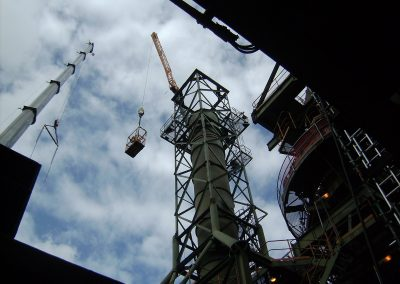 Waste Gas Stack Remove, Repair, & Reinstallation Project